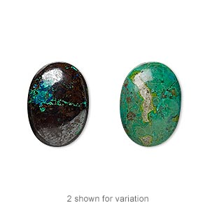 cabochon, chrysocolla (stabilized), 18x13mm calibrated oval, c grade, mohs hardness 2 to 4. sold individually.