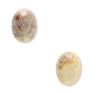 cabochon, crazy lace agate (natural), 16x12mm calibrated oval, b grade, mohs hardness 6-1/2 to 7. sold per pkg of 2.