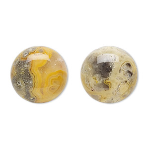 cabochon, crazy lace agate (natural), 18mm calibrated round, b grade, mohs hardness 6-1/2 to 7. sold per pkg of 2.