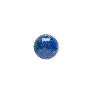 cabochon, denim lapis (natural), 12mm calibrated round, c grade, mohs hardness 5 to 6. sold per pkg of 4.