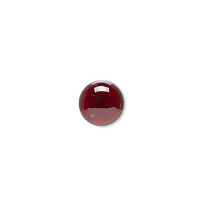 cabochon, garnet (natural), 10mm calibrated round, b grade, mohs hardness 7 to 7-1/2. sold individually.