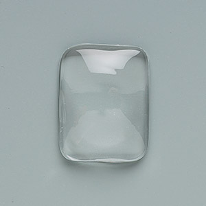 cabochon, glass, clear, 24x18mmm non-calibrated rectangle. sold per pkg of 6.