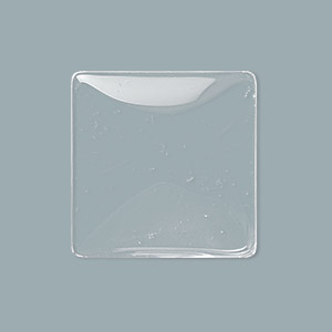 cabochon, glass, transparent clear, 25x25mm non-calibrated square. sold per pkg of 10.