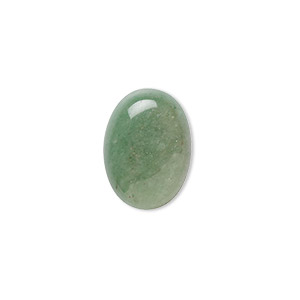 cabochon, green aventurine (natural), light to medium, 18x13mm calibrated oval, b grade, mohs hardness 7. sold per pkg of 4.