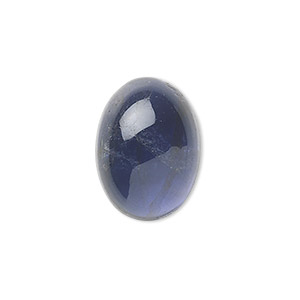 cabochon, iolite (natural), 7x5mm hand-cut calibrated oval, b grade, mohs hardness 7 to 7-1/2. sold individually.