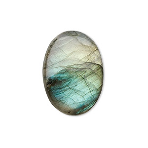 cabochon, labradorite (natural), 25x18mm calibrated oval, b grade, mohs hardness 6 to 6-1/2. sold individually.