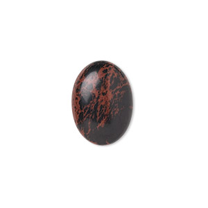 cabochon, mahogany obsidian (natural), 18x13mm calibrated oval, b grade, mohs hardness 5 to 5-1/2. sold per pkg of 2.