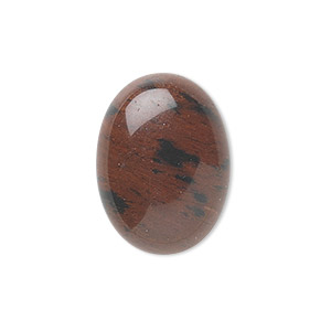 cabochon, mahogany obsidian (natural), 8x6mm calibrated oval, b grade, mohs hardness 5 to 5-1/2. sold per pkg of 10.