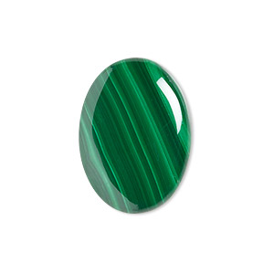 cabochon, malachite (natural), 25x18mm calibrated oval, b grade, mohs hardness 3-1/2 to 4. sold individually.