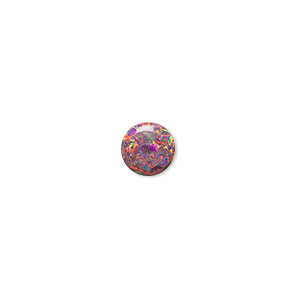 cabochon, mexican opal (man-made), multicolored, 8mm calibrated round. sold individually.