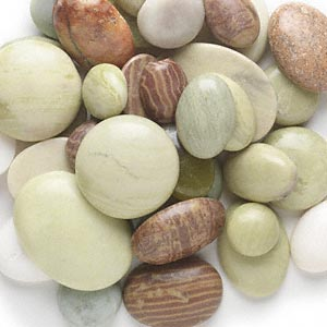 cabochon mix, multi-gemstone (natural), 15mm-40x30mm non-calibrated round and oval, c- grade. sold per 1-pound pkg, approximately 45-65 cabochons.