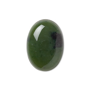 cabochon, nephrite jade (natural), 25x18mm calibrated oval, b grade, mohs hardness 6 to 6-1/2. sold individually.