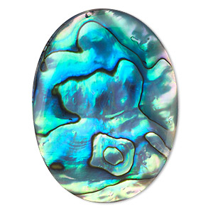 cabochon, paua shell (coated), 40x30mm calibrated oval, mohs hardness 3-1/2. sold individually.