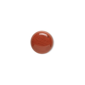 cabochon, red jasper (natural), 10mm calibrated round, b grade, mohs hardness 6-1/2 to 7. sold per pkg of 10.