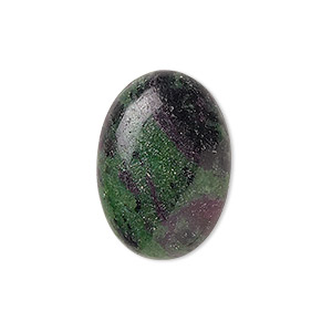 cabochon, ruby in zoisite (natural), medium to dark, 25x18mm calibrated oval, b grade, mohs hardness 6 to 7. sold individually.