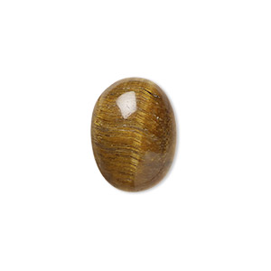 cabochon, tigereye (natural), 16x12mm calibrated oval, b grade, mohs hardness 7. sold per pkg of 4.