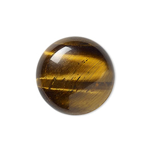 cabochon, tigereye (natural), 18mm calibrated round, b grade, mohs hardness 7. sold per pkg of 2.