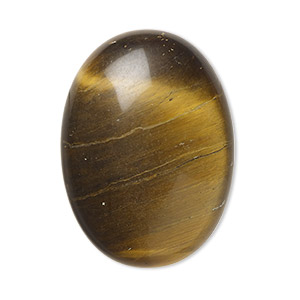 cabochon, tigereye (natural), 30x22mm calibrated oval, b grade, mohs hardness 7. sold individually.
