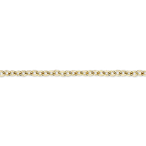 chain, brass-plated steel, 2.2mm cable. sold per pkg of 12 feet.