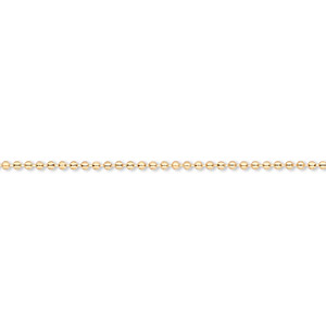 chain, gold-finished brass, 1mm ball, 18 inches with 1-inch extender chain and lobster claw clasp. sold per pkg of 4.