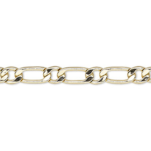 chain, gold-plated brass, 5mm long and short flat oval. sold per 50-foot spool.