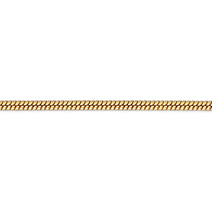 chain, gossamer™, 14kt gold-filled, 1mm snake, 16 inches with springring clasp. sold individually.