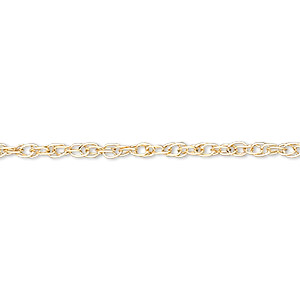 chain, gossamer™, 14kt gold-filled, 1mm triple rope, 18 inches with springring clasp. sold individually.