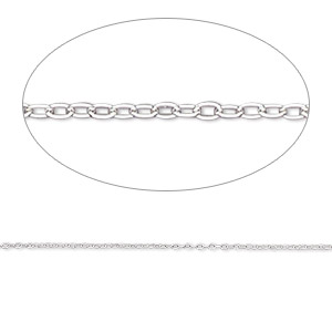 chain, gossamer™, sterling silver, 0.6mm cable, 18 inches with springring clasp. sold individually.