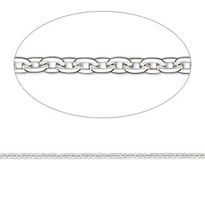 chain, gossamer™, sterling silver, 1.2mm round cable, 24 inches. sold individually.