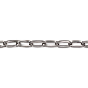 chain, gunmetal-plated steel, 5mm long cable. sold per pkg of 5 feet.