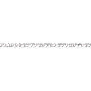 chain, silver-plated steel, 2.2mm cable. sold per 50-foot spool.