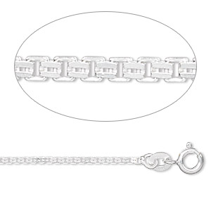 chain, sterling silver, 1.4mm double venetian, 24 inches. sold individually.