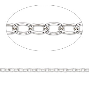 chain, sterling silver, 1.5mm cable. sold per pkg of 5 feet.