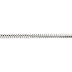 chain, sterling silver, 2.3mm hammered foxtail, 24 inches. sold individually.