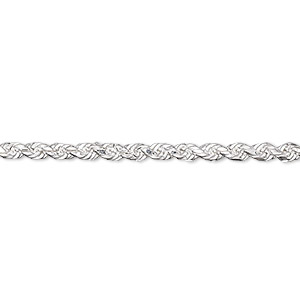 chain, sterling silver, 2.75mm french rope, 24 inches. sold individually.