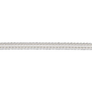 chain, sterling silver, 3mm hammered foxtail, 20 inches. sold individually.