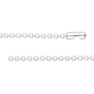 chain, sterling silver and sterling silver-filled, 2.1mm ball, 18 inches with ball chain connector. sold individually.