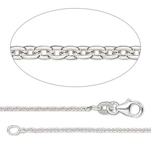 chain, sterling silver-filled, 1.4mm cable, 18 inches with lobster claw clasp. sold individually.