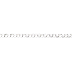 chain, sterling silver-filled, 2.4mm rolo. sold per pkg of 5 feet.