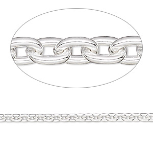 chain, sterling silver-filled, 2.7mm cable. sold per pkg of 5 feet.