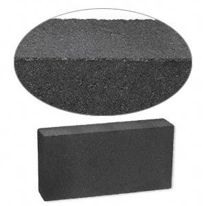 charcoal block, black, 5-1/2x2-3/4x1-1/2 inch rectangle. sold individually.