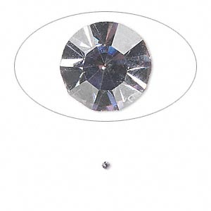 chaton, glass rhinestone, lavender, foil back, 1.4-1.5mm faceted round, pp8. sold per pkg of 72.