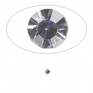 chaton, glass rhinestone, lavender, foil back, 2.1-2.2mm faceted round, pp15. sold per pkg of 72.