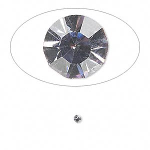 chaton, glass rhinestone, lavender, foil back, 2.2-2.3mm faceted round, pp16. sold per pkg of 72.