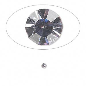 chaton, glass rhinestone, lavender, foil back, 2.4-2.5mm faceted round, pp18. sold per pkg of 72.