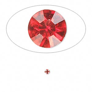 chaton, glass rhinestone, light siam, foil back, 2.2-2.3mm faceted round, pp16. sold per pkg of 72.