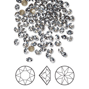 chaton, swarovski crystal rhinestone, crystal passions, crystal blue shade, foil back, 3-3.2mm xirius round (1088), pp24. sold per pkg of 12.