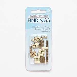 clasp, barrel, gold-finished pewter (zinc-based alloy), 11x4mm corrugated. sold per pkg of 22.