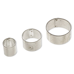 clay cutter, tin, 20mm / 30mm / 40mm round. sold per 3-piece set.