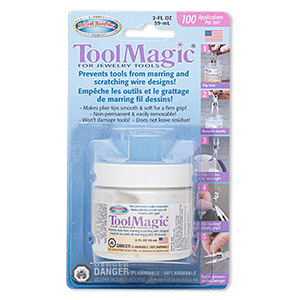 coating, tool magic, rubber, white, for plier tips. sold per 2-ounce jar.